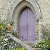 Purple Church Door France