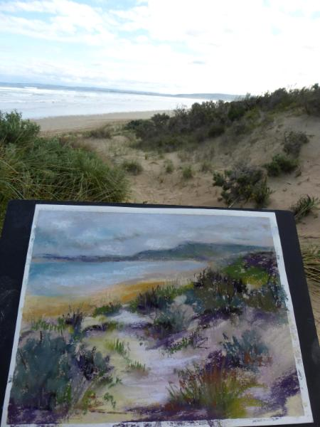 Sand dunes at Goolwa South Australia