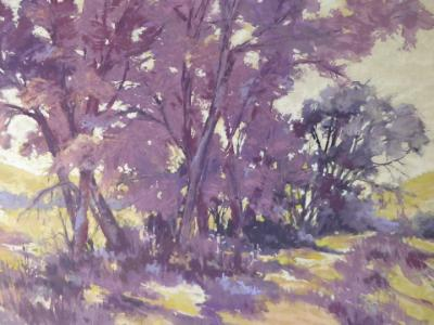 Plum Passion plein air 16x12