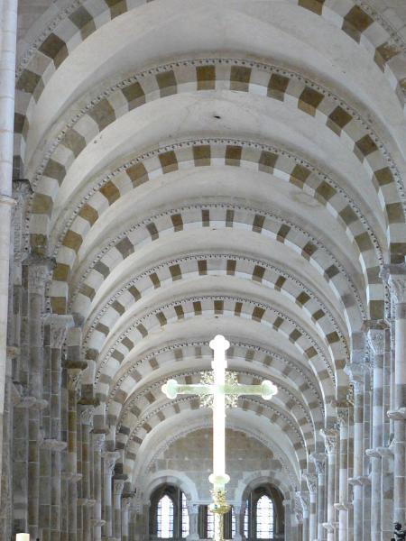 Inside Vezelay church