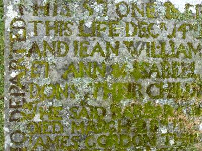Tombstone writing Scotland
