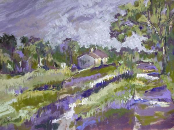 Green and Purple Landscape 16x12