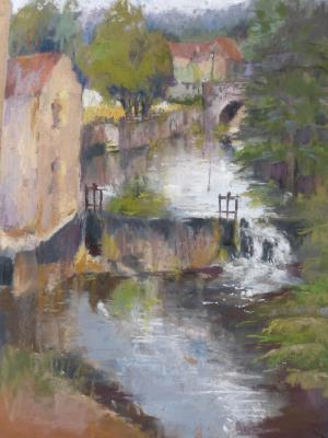 Mill at Castlefranc - plein air 9x12