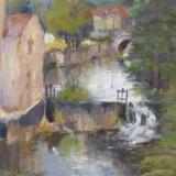 Mill at Castlefranc - plein air 9x12