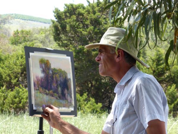 Richard McKinley's pastel demo