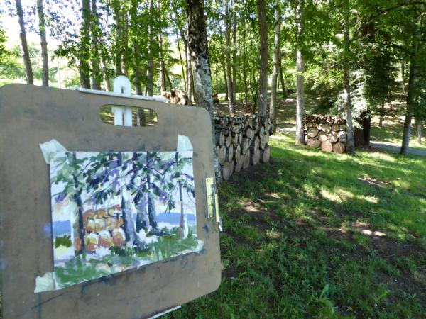 Plein air painting at Haut Baran