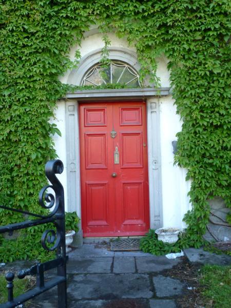 Ivy with red door Ireland