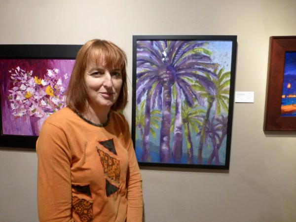 """Purple Palm Trees"""