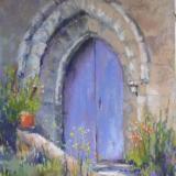 The Purple Church Door 10x16