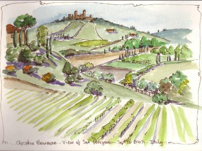 View of San Gimignano, Italy