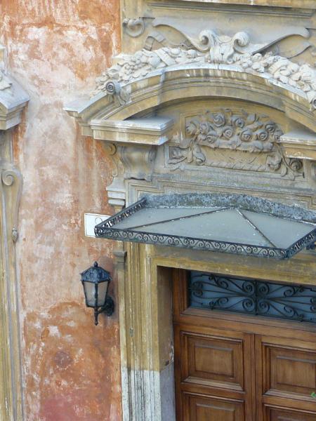 Roman door details Italy