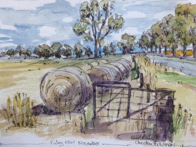 Big bales, Finley, Australia