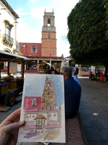 Sketching in San Miguel de Allende