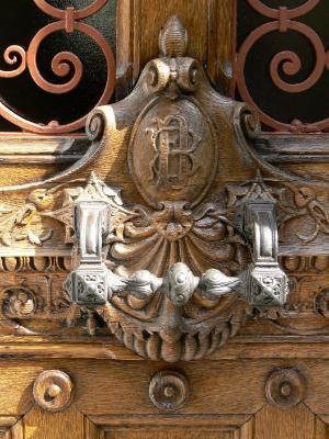 Carved door France