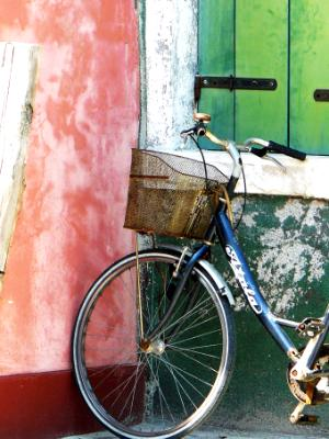 Bike against wall Burano