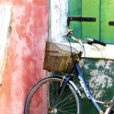 Bike against wall Burano