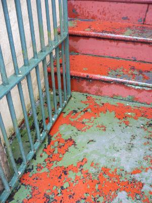 Orange and green steps Sydney Australia