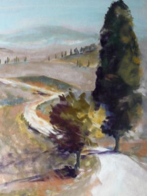 Lone Cypress Tuscany