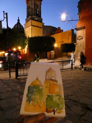 Evening sketching, San Miguel