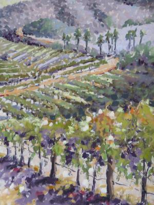 Vineyard Vista plein air 9x12