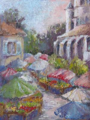 Market Umbrellas 9x12