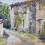 Street view in Belaye - plein air