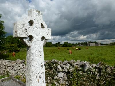 Storm clouds with cross Ireland