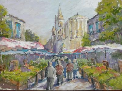 Market at Prayssac 18x12