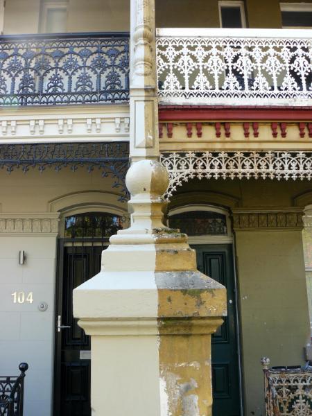 Where two terrace houses meet Sydney Australia